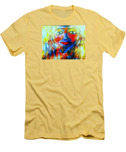 Men's T-Shirt (Slim Fit) featuring the painting Imperfect Me by Fania Simon