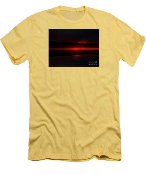 Island Fog Sunrise Men's T-Shirt (Athletic Fit)