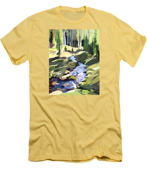 Lena Peak Stream Men's T-Shirt (Athletic Fit)