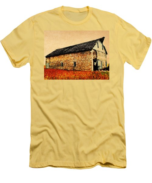 Lime Stone Barn Men's T-Shirt (Athletic Fit)