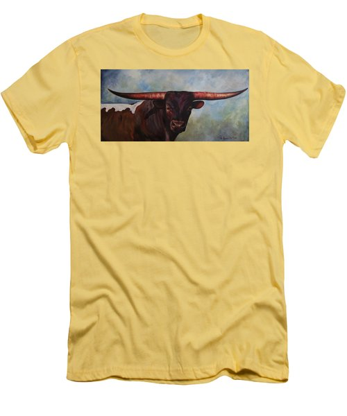 Longhorned Texan Men's T-Shirt (Athletic Fit)