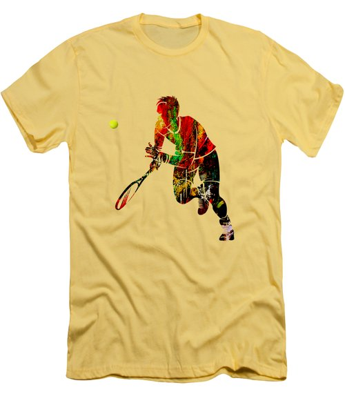Mens Tennis Collection Men's T-Shirt (Slim Fit) by Marvin Blaine