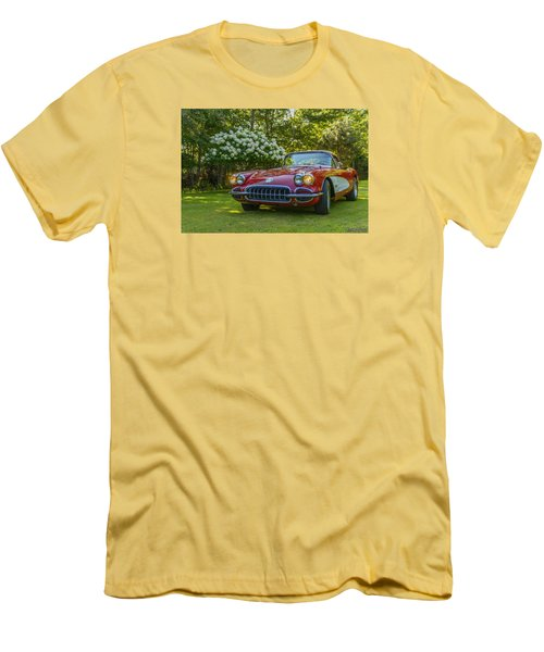 My 1960 Corvette Men's T-Shirt (Slim Fit) by Ken Morris