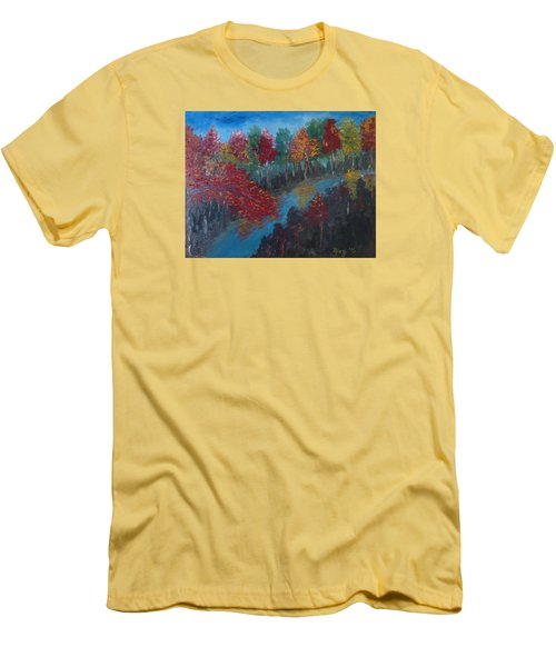 New Hampshire In Autumn Men's T-Shirt (Slim Fit) by Roxy Rich
