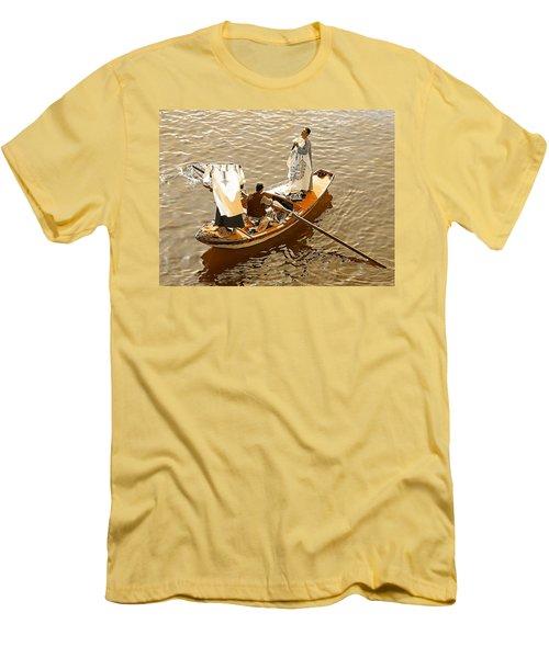 Men's T-Shirt (Slim Fit) featuring the photograph Nile River Merchants by Joseph Hendrix