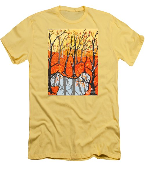 November Morning  Men's T-Shirt (Slim Fit) by Jeffrey Koss