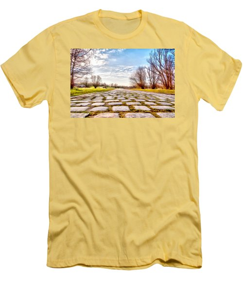 Olimpia Park - Munich Men's T-Shirt (Slim Fit) by Sergey Simanovsky
