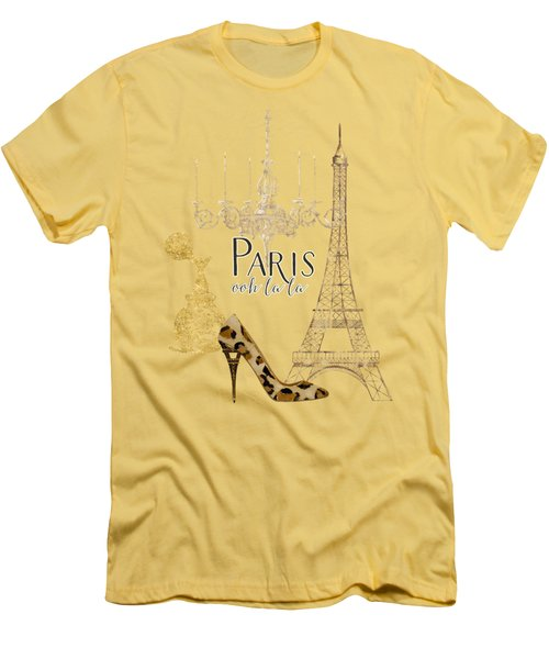 Paris - Ooh La La Fashion Eiffel Tower Chandelier Perfume Bottle Men's T-Shirt (Athletic Fit)
