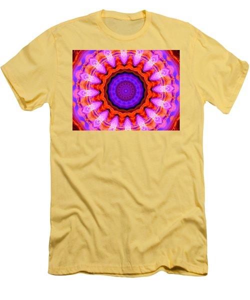 Pink 16-petals Kaleidoscope Men's T-Shirt (Athletic Fit)