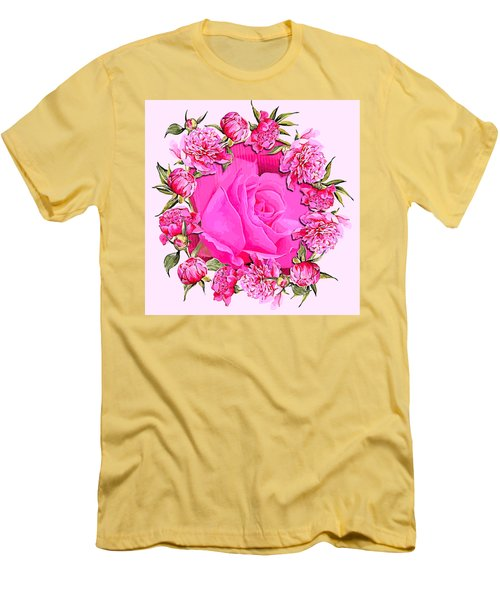 Pink Magnificence Men's T-Shirt (Athletic Fit)