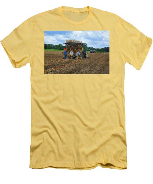 Planting Sugarcane Men's T-Shirt (Slim Fit) by Ronald Olivier