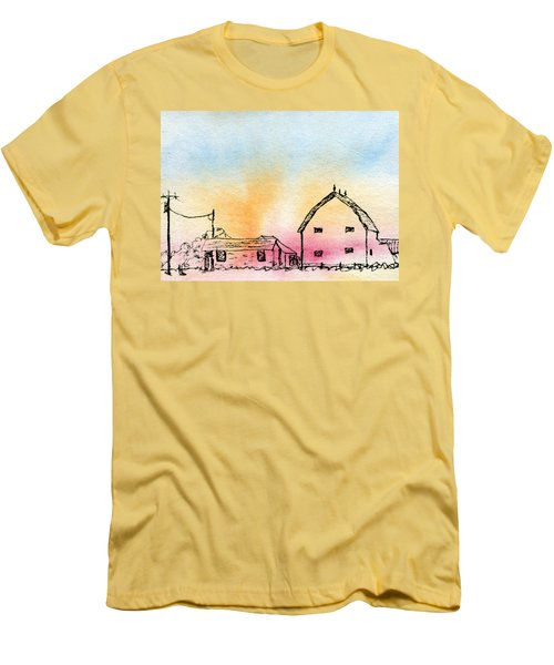 Rural Nostalgia Men's T-Shirt (Slim Fit) by R Kyllo