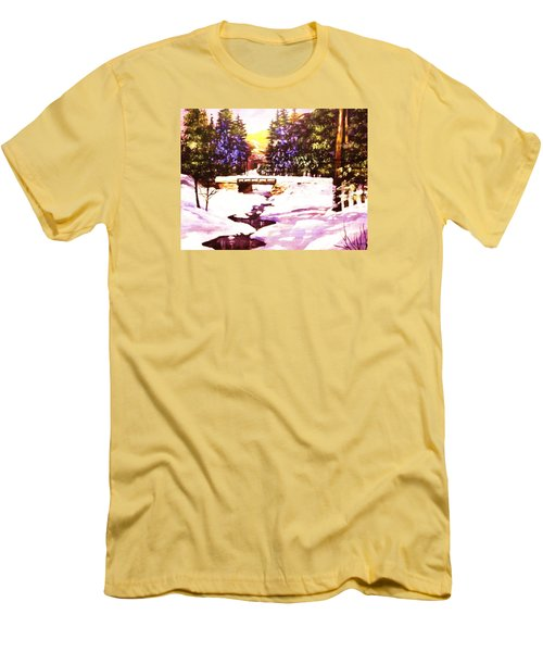 Men's T-Shirt (Slim Fit) featuring the painting Seasonal  Change by Al Brown