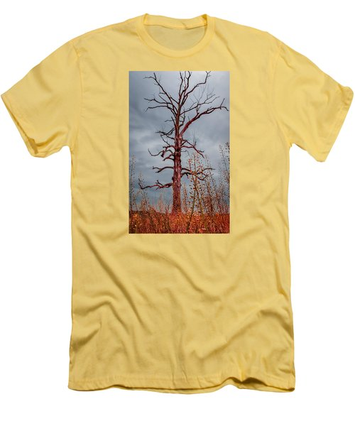 Ominous Men's T-Shirt (Slim Fit) by Wayne King