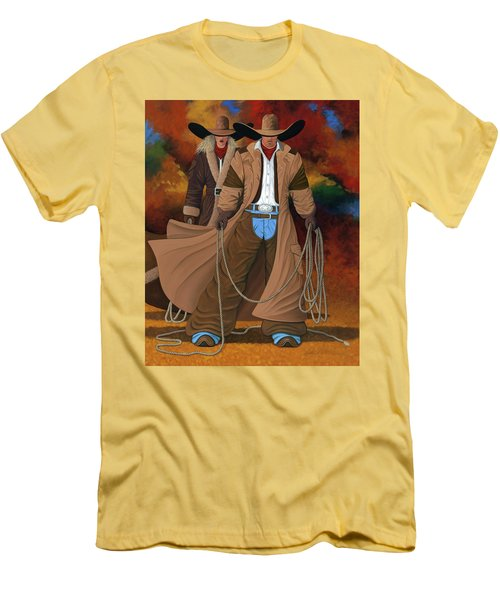 Stand By Your Man Men's T-Shirt (Slim Fit) by Lance Headlee