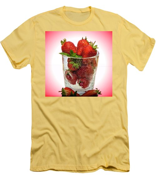 Strawberry Dessert Men's T-Shirt (Athletic Fit)
