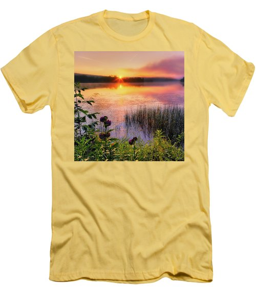 Men's T-Shirt (Slim Fit) featuring the photograph Summer Sunrise Square by Bill Wakeley