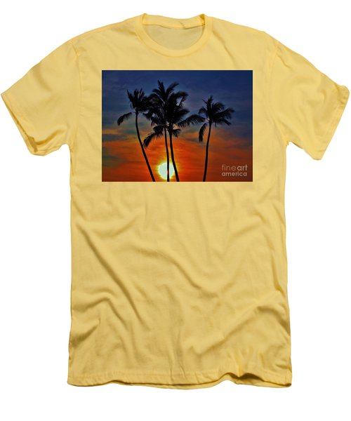 Men's T-Shirt (Slim Fit) featuring the photograph Sunlit Palms by Craig Wood