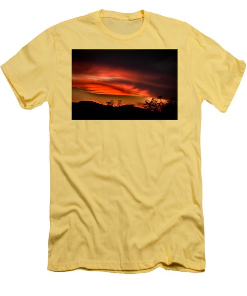 Sunset Men's T-Shirt (Slim Fit) by Alessandro Della Pietra