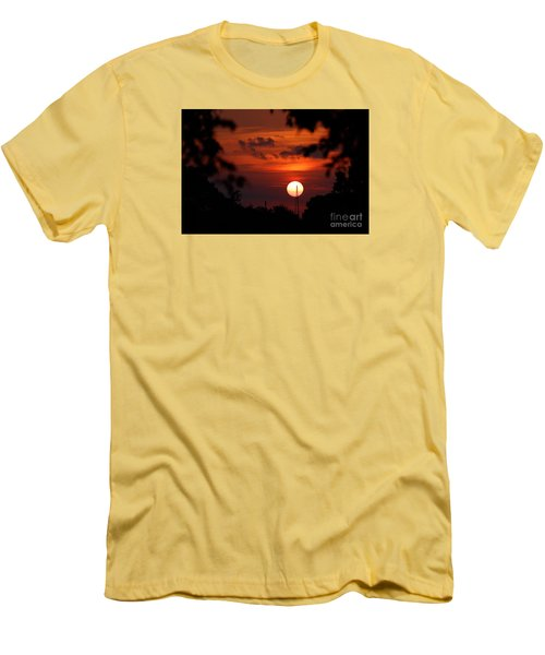 Sunset At Lake Hefner Men's T-Shirt (Athletic Fit)