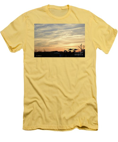 Men's T-Shirt (Slim Fit) featuring the photograph Sunset View by Arik Baltinester