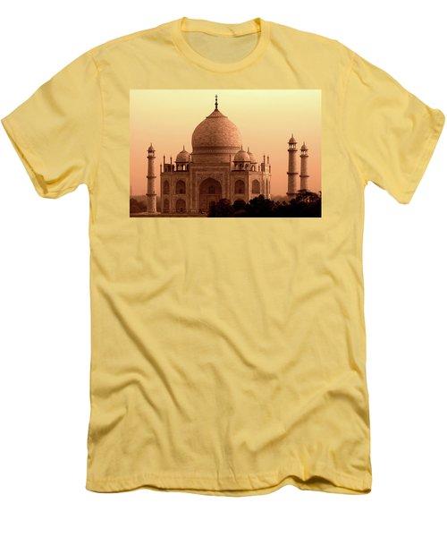 Taj Mahal Men's T-Shirt (Slim Fit) by Aidan Moran