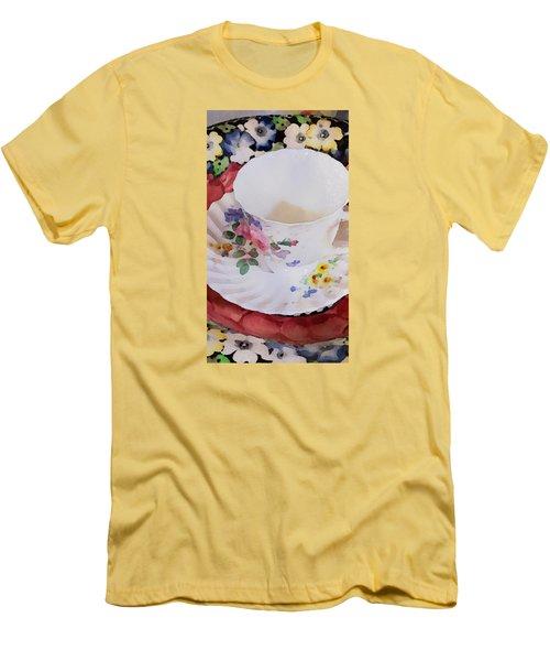Tea Time Men's T-Shirt (Slim Fit) by Bonnie Bruno
