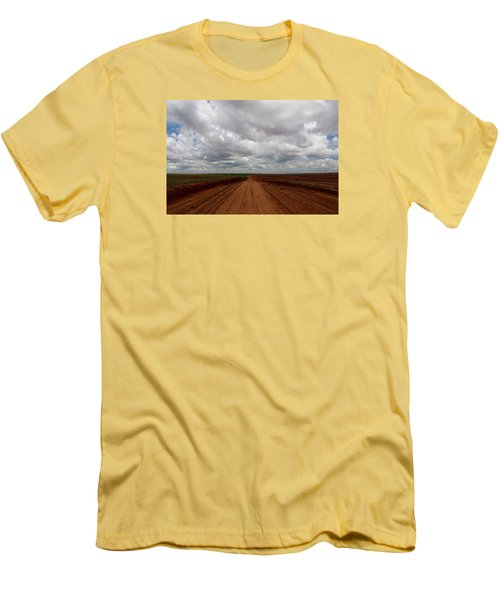 Texas Red Road Men's T-Shirt (Slim Fit) by Suzanne Lorenz