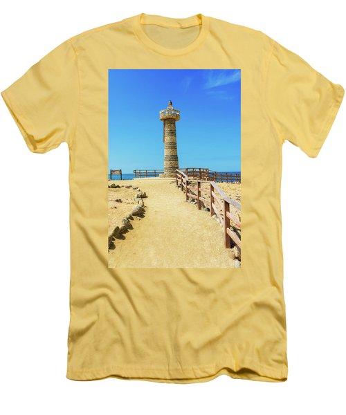 The Lighthouse In Salinas, Ecuador Men's T-Shirt (Slim Fit) by Marek Poplawski