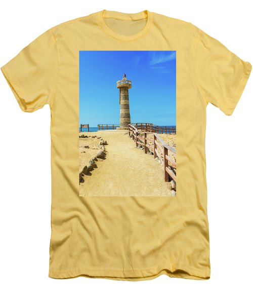 The Lighthouse In Salinas, Ecuador Men's T-Shirt (Athletic Fit)