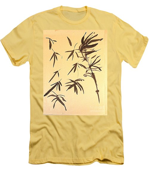 Men's T-Shirt (Slim Fit) featuring the painting Thinking Of Wind 3 by Nancy Kane Chapman