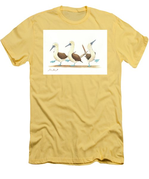 Three Blue Footed Boobies Men's T-Shirt (Slim Fit)