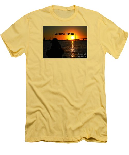 Tropical Sunset Men's T-Shirt (Slim Fit) by Gary Wonning