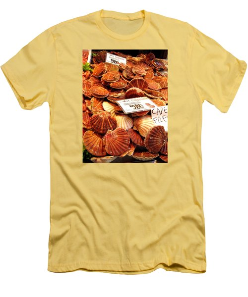 Venice Fish Market Men's T-Shirt (Slim Fit) by Lisa Boyd