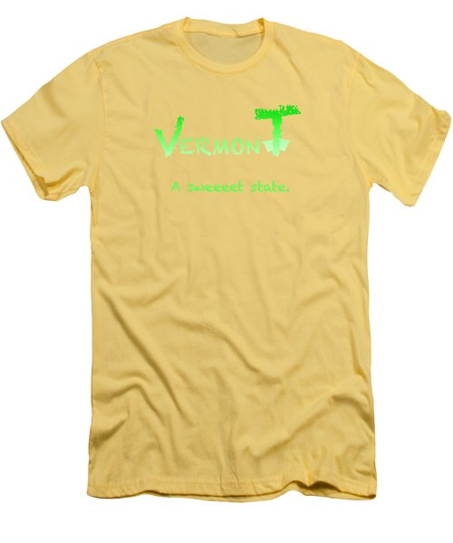 Vermont Sweeet Men's T-Shirt (Slim Fit) by George Robinson