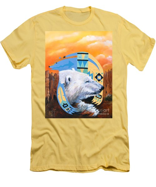 White Bear Goes Southwest Men's T-Shirt (Slim Fit) by J W Baker
