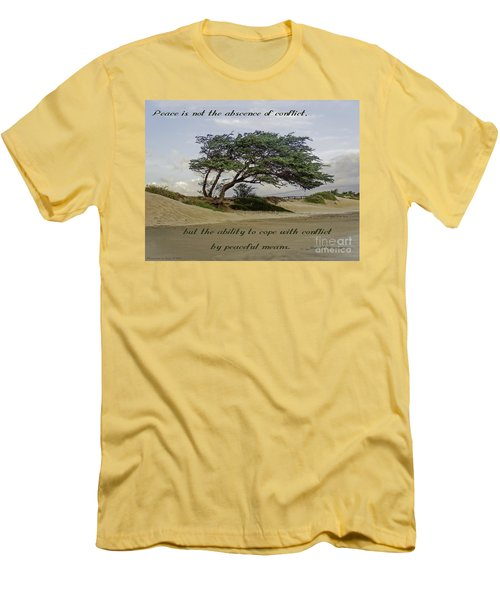 Windy Lean Men's T-Shirt (Slim Fit) by Gena Weiser