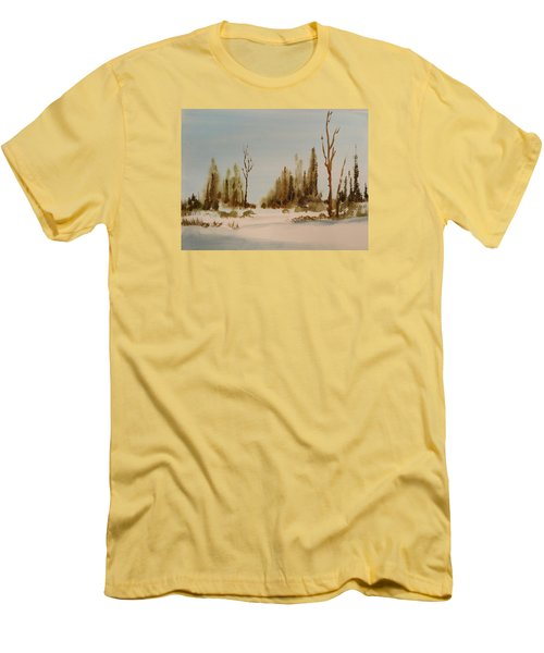 Winter Morning Men's T-Shirt (Slim Fit) by Larry Hamilton