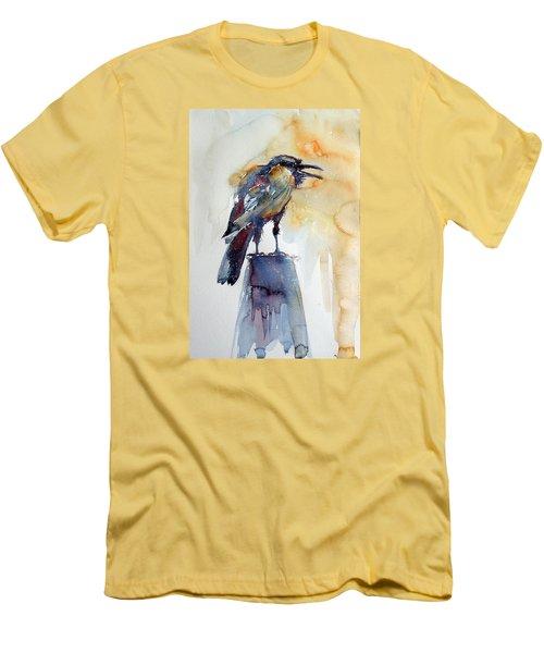 Crow Men's T-Shirt (Slim Fit) by Kovacs Anna Brigitta