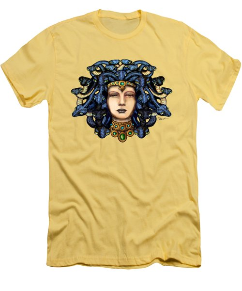16x20 Medusa 2 Blu Gold Men's T-Shirt (Athletic Fit)