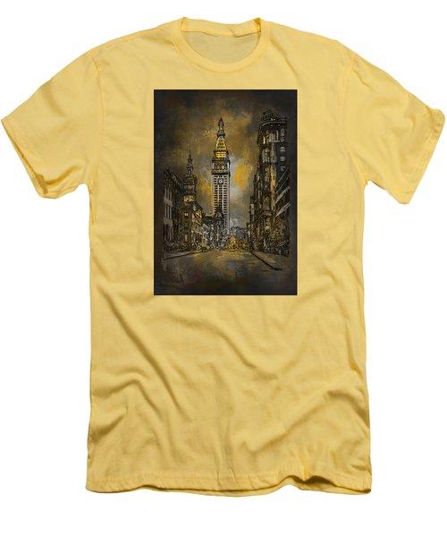 1910y Madison Avenue Ny. Men's T-Shirt (Slim Fit) by Andrzej Szczerski