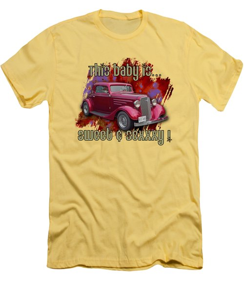 1935 Chev 3 Widow Coupe Men's T-Shirt (Athletic Fit)