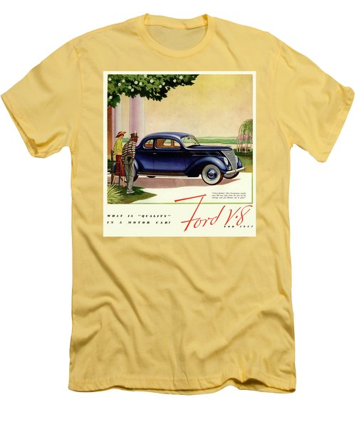 1937 Ford Car Ad Men's T-Shirt (Athletic Fit)