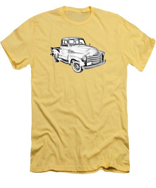 1947 Chevrolet Thriftmaster Pickup Illustration Men's T-Shirt (Slim Fit) by Keith Webber Jr