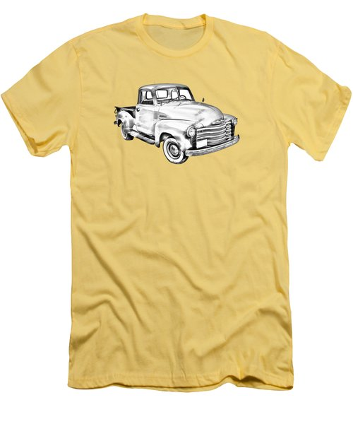 1947 Chevrolet Thriftmaster Pickup Illustration Men's T-Shirt (Athletic Fit)