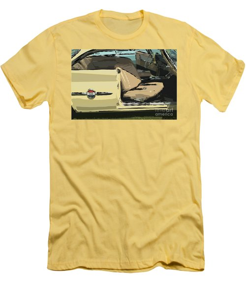 Men's T-Shirt (Slim Fit) featuring the photograph 1960 Chrysler 300-f  Muscle Car by David Zanzinger