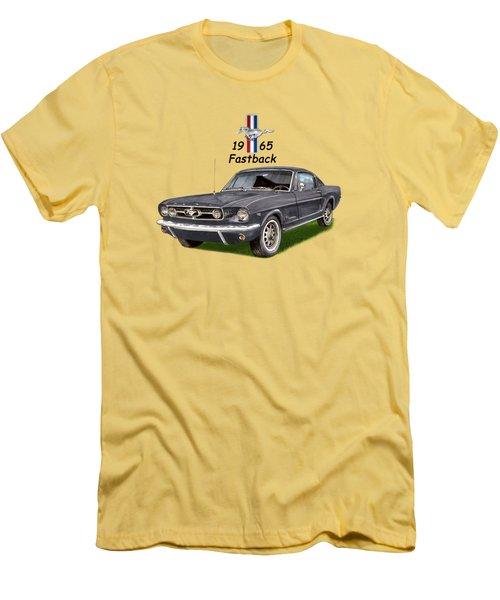 Mustang Fastback 1965 Men's T-Shirt (Slim Fit) by Jack Pumphrey