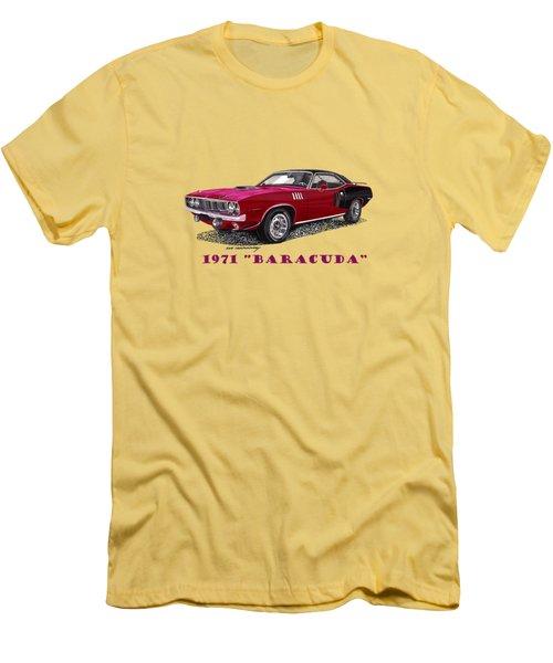 1971 Plymouth Barracuda Men's T-Shirt (Slim Fit) by Jack Pumphrey