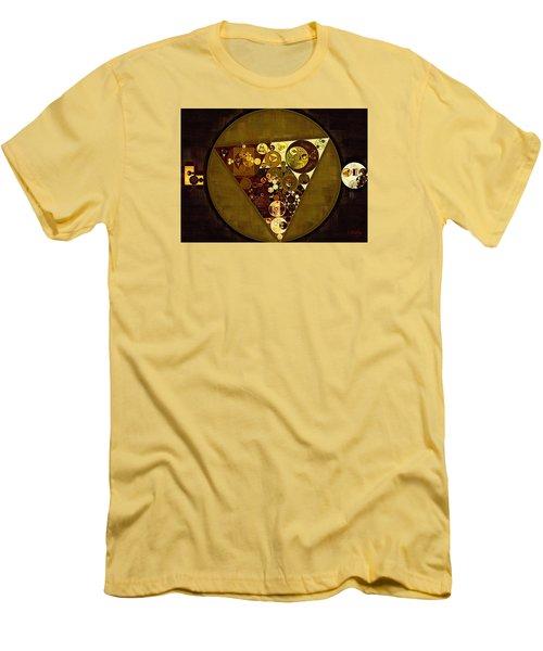 Abstract Painting - Golden Sand Men's T-Shirt (Slim Fit) by Vitaliy Gladkiy