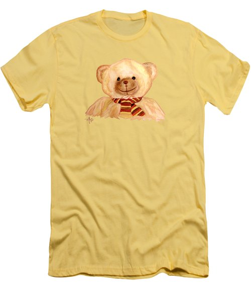Cuddly Bear Men's T-Shirt (Slim Fit) by Angeles M Pomata